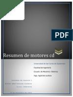 Resumen de Motores CD