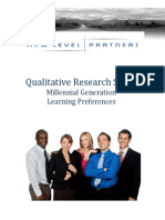 Qualitative Research Study Millennial Generation Learning Preferences