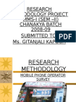 Research Methodology for Mobile Phone Operators