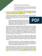 Capítulo I - INTRODUCCION LA MORAL FUNDAMENTAL