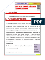 TRANSFORMACION DE LA ENERGIA ELECTRICA EN ENERGIA TERMICA
