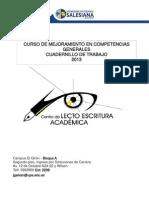 Cuadernillo de Trabajo 2013 - 2014