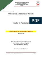 LICENCIATURA EN NATUROPATIA MEDICA 2014. TLAXCALA, MEXICO