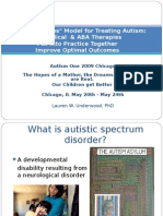 """A """"Best Practices"""" Model for Treating Autism"""
