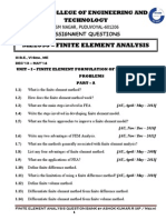 Assignment Booklet Me2353 Finite Element Analysis Dec 2013 May 2014