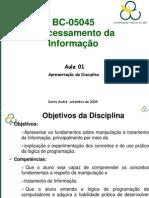 Apresentacao Da Disciplina Processamento 28 09 2009