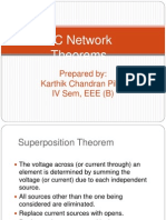 AC Network Theorems