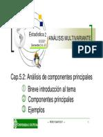 5.2 Análisis de componentes principales