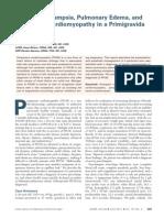 Severe Preeclampsia, Pulmonary Edema, And Peripartum Cardiomyopathy in a Primigravida Patiet