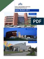 Admission Bulletin 201 IMI