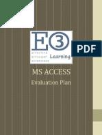 ms access evaluation plan 2
