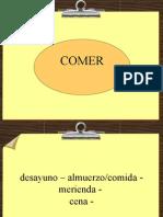 PRESENTE  del verbo COMER