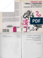 Leach Edmund - Cultura Y Comunicacion - La Logica de La Conexion de Los Simbolos (2 Caras)
