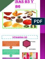 Vitaminas b3 y b6