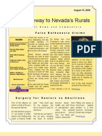 Volume 1 Number 6 Nye - Gateway to Nevada's Rurals Newsletter August 15, 2009