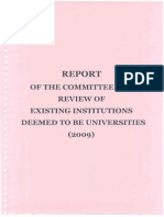 Complete Report on Deemed University - (Original)