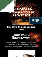 GUÍA PARA LA FORMULACIÓN DE PROYECTOS