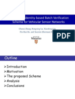 [Ppt] an Efficient Identity-Based Batch Verification Scheme for Vehicular Sensor Networks