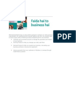 HBL BusinessFaida Brings You the Perfect Package to Manage Your Daily Business Requirements