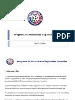 programa de selecciones juveniles regionales 20131