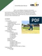 Cricket Revolution Manual