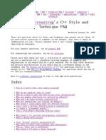 Stroustrup_ C++ Style and Technique FAQ