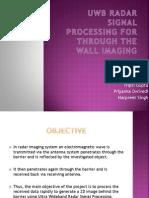 Uwb Radar Signal Processing for Through the Wall