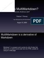 What is MultiMarkdown?
