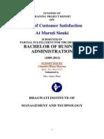 Customer Satisfaction Survey for Maruti Suzuki