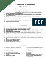 Paper 4 Material management Question Bank