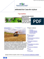 EMBRAPA - Impacto Ambiental da Cana-de-Açúcar