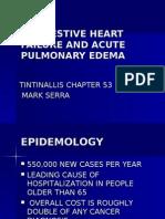 53 Congestive Heart Failure & Acute Pulmonary Edema