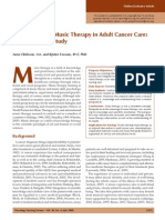 Perspectives on Music Therapy in Adult Cancer Care
