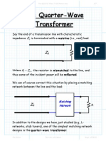 The Quarter Wave Transformer