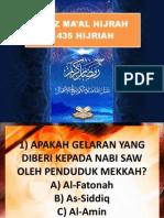 Kuiz Ma'Al Hijrah 1435