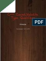 C++ Const,Volatile Type Qualifiers