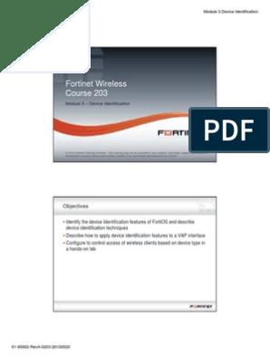 Fortinet Wireless Fortinet Wireless Course 203: Module 3