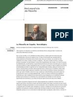Baró&Belmonte - Necrológica de la filosofía en España