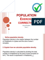 population  exercises