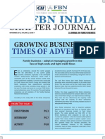 Cii-fbn India Chapter Journal - Nov 2012 (Print Ready) Kanishka Arumugam , Deccan Pumps , Forbes Marshall .
