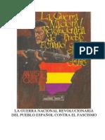 Análisis crítico - La Guerra Nacional Revolucionaria del pueblo español contra el fascismo