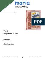 evaluación español 6º año 01