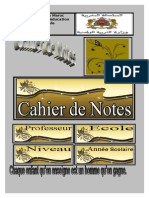 Couverture Cahier de Notes