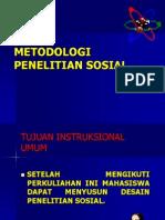 METODOLOGI PENELITIAN SOSIAL
