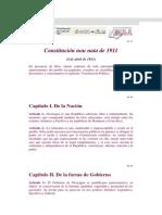 Constitucion de 1911 Non Nata