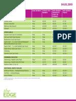 Edge flyer Leeds Prices