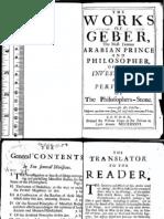 Works of Geber by Robert J Holmyrad