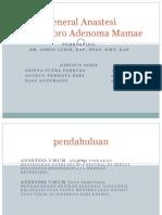 General Anastesi Pada Fibro Adenoma Mamae