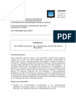 OPTATIVA- De Cabilia a Lauvre Un Recorrido Por La Obra de Pierre Bourdieu 2012- Vecchioli