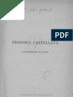 Benot, Eduardo. Prosodia Castellana y Versificación III